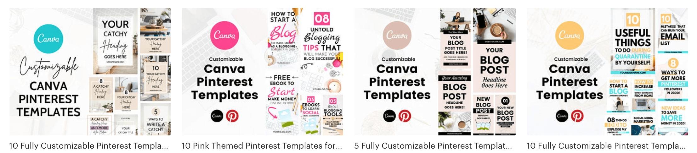 Etsy Pinterest Templates