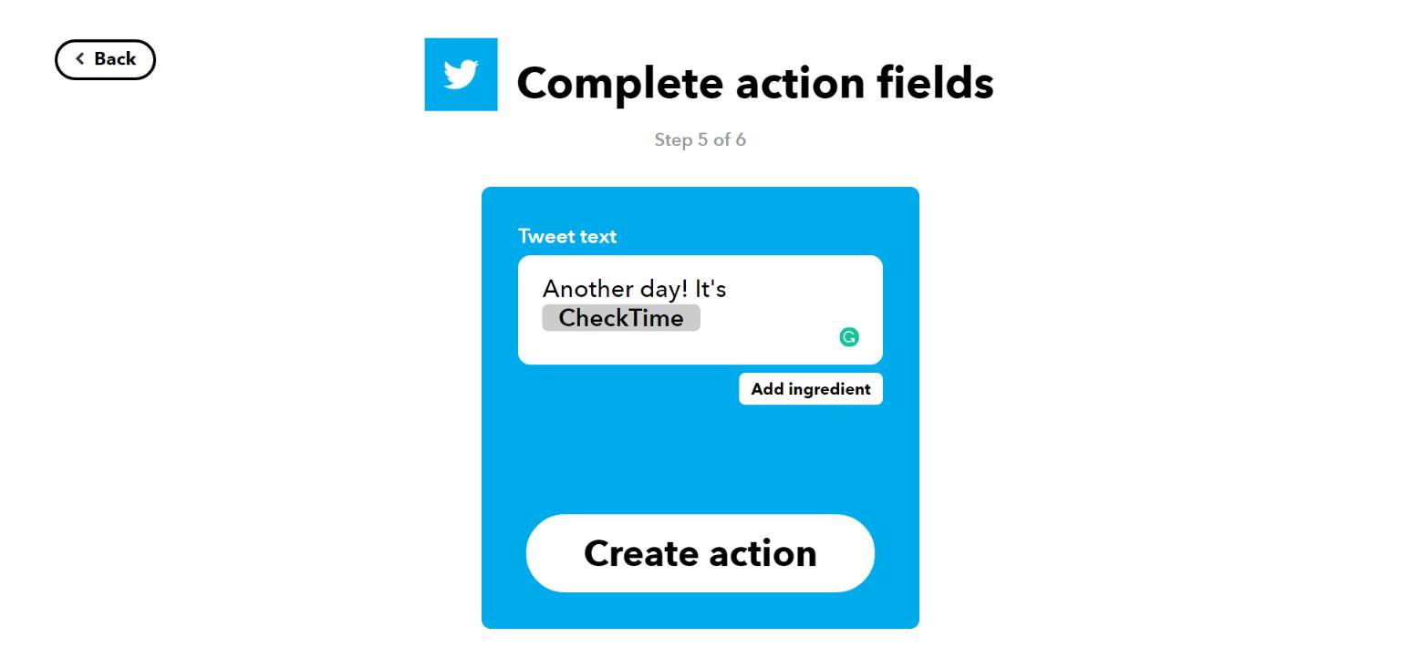 Create IFTTT Action