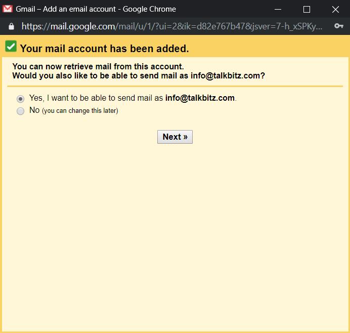 ADD Domain mail