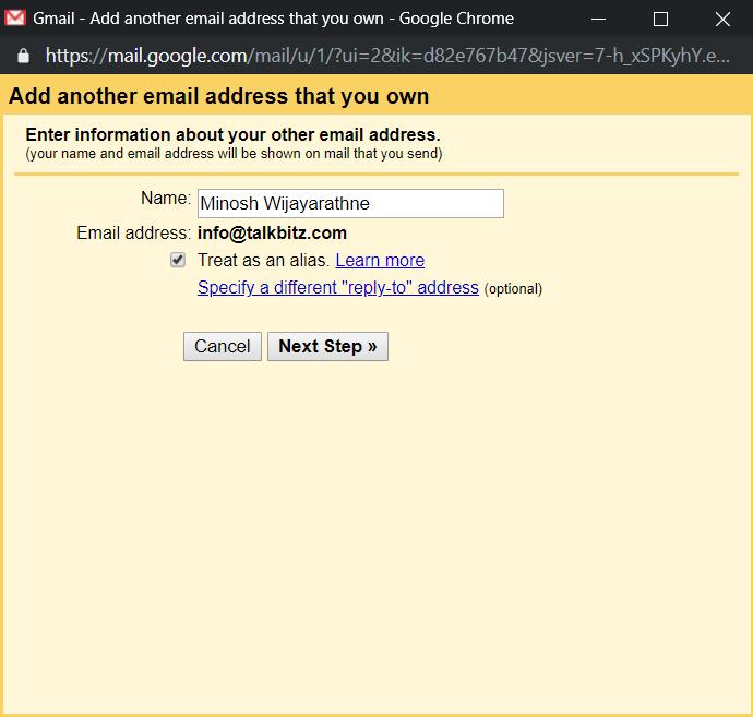Add email alias
