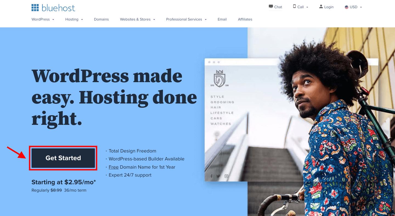 Start a Blog on Bluehost