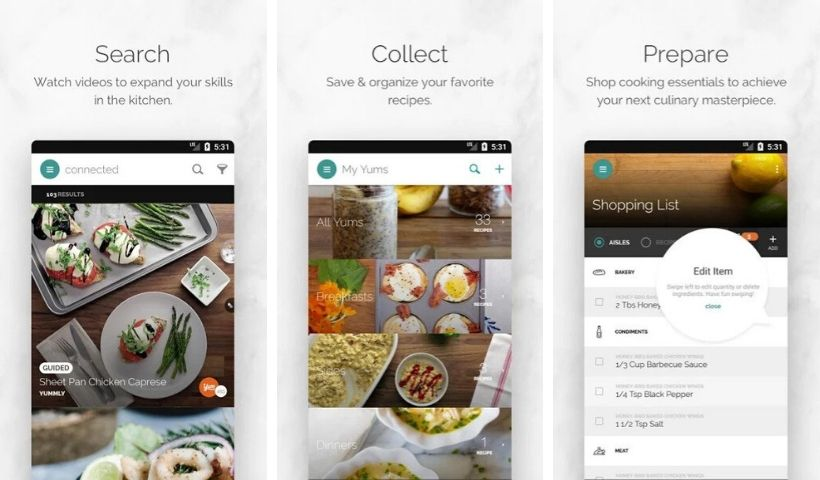Best Cooking Apps: Yummly Recipes