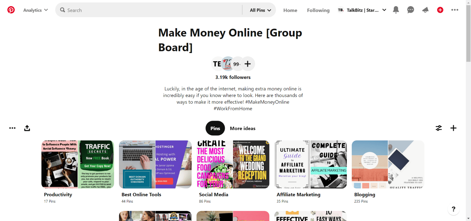 Pinterest Make Money Online Group Boards