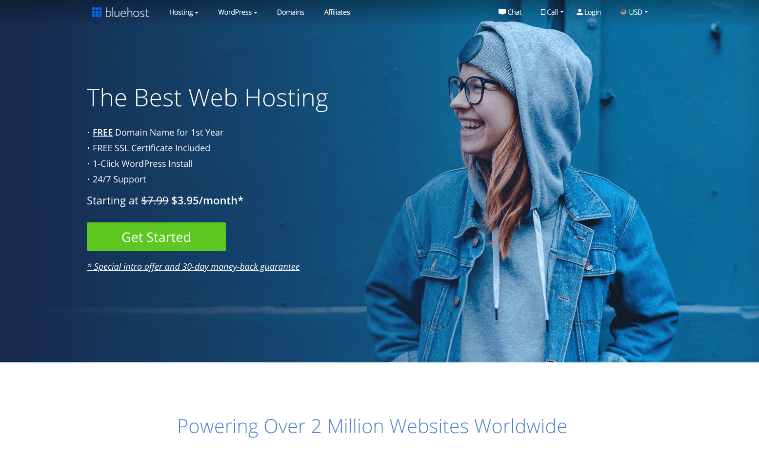 Get Webhosting from Bluehost
