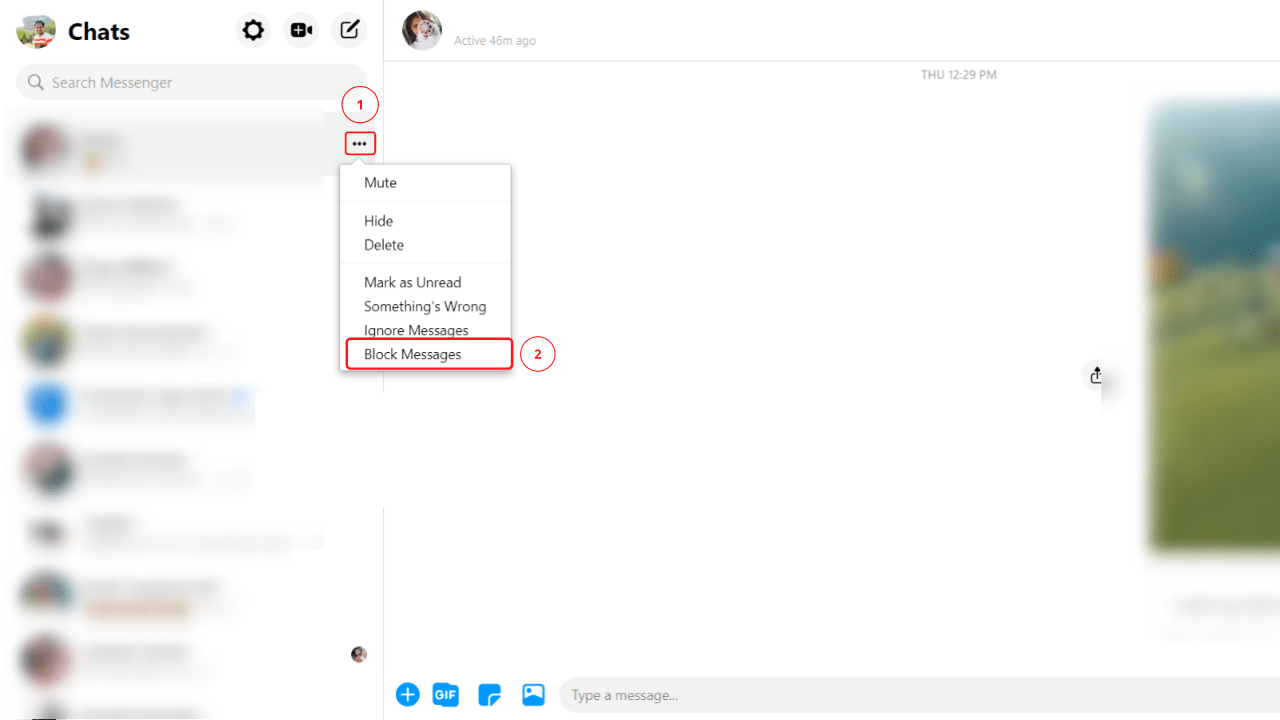 How to Block Someone on Messenger on PC