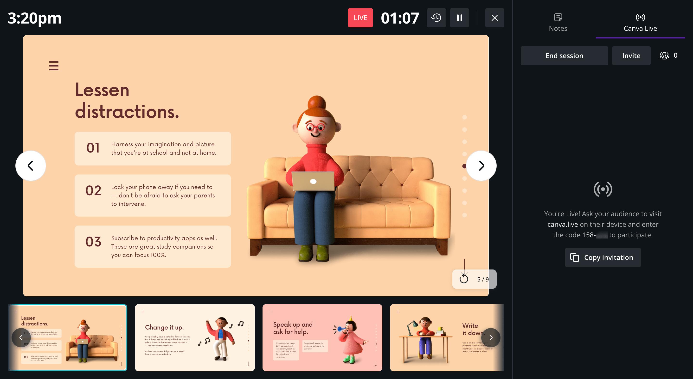 Canva Presentations Live Mode