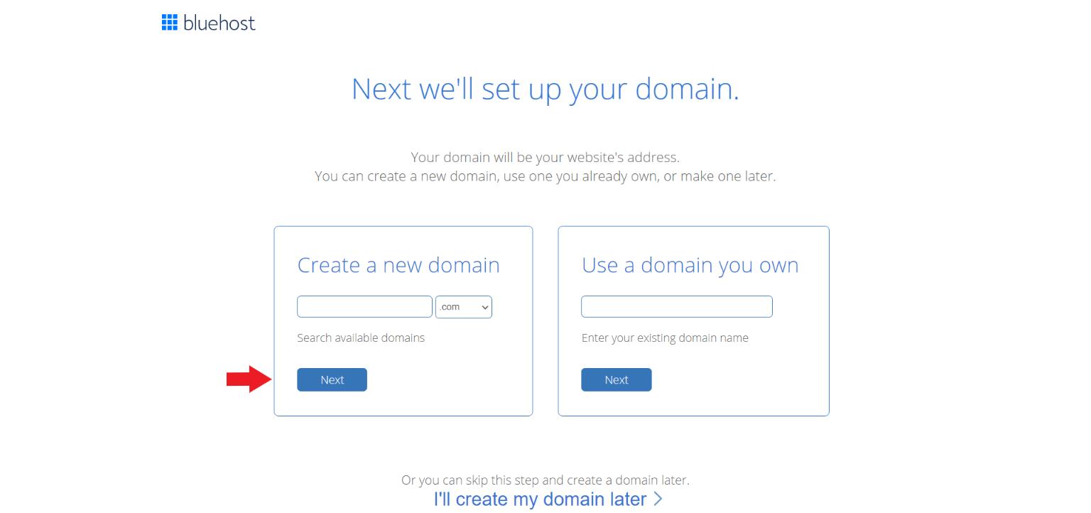 Setup a New Domain on Bluehost