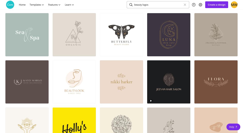 Canva Beauty Logos