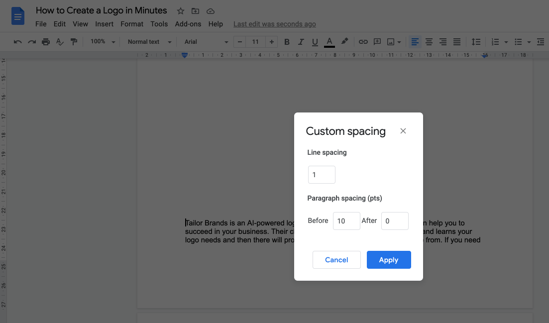 Add a Custom Spacing Value