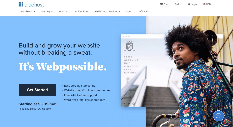 Bluehost Web hosting 2021