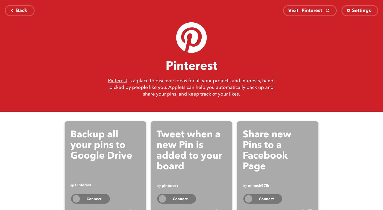 IFTTT Pinterest