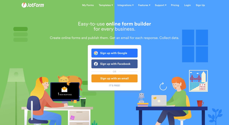 Jotform-Free-Online-Form-Builder