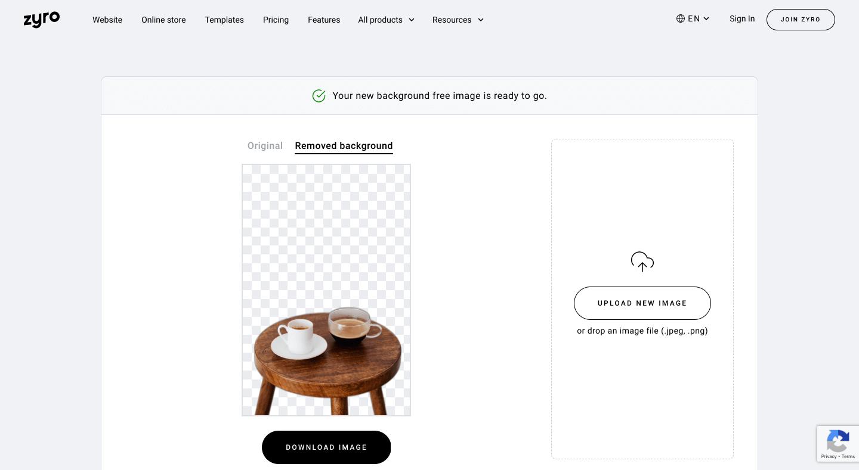 Zyro Background Remover